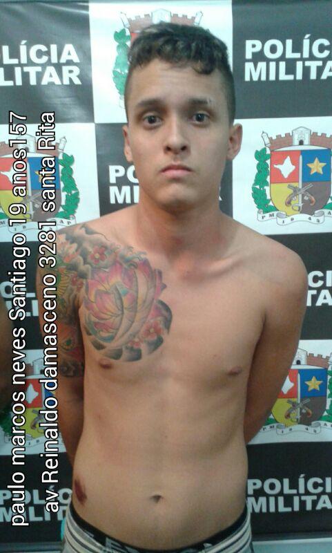 Paulo Marcos Neves Santiago, preso no último assalto