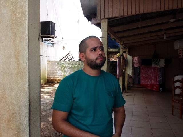 Assistente social Jorge Luiz Santos não sabe mais o que fazer para que a CEA ou a Defesa Civil apareçam