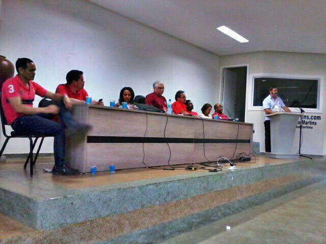 Reunião do PT antes da confusão