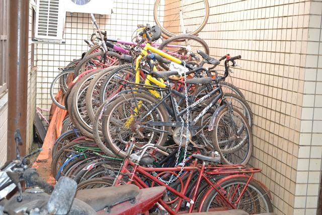 As bicicletas também estão podrecendo na garagem do Ciosp