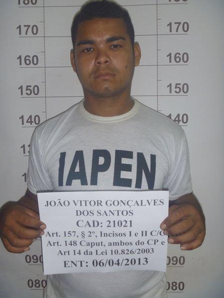 João Vitor: roubo e sequestro