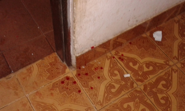 Sangue na sala. Moradores denunciaram excesos