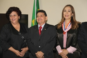 Desembargadores Sueli Pini, Luiz Carlos e Stella Ramos (Foto: Tjap Notícias)