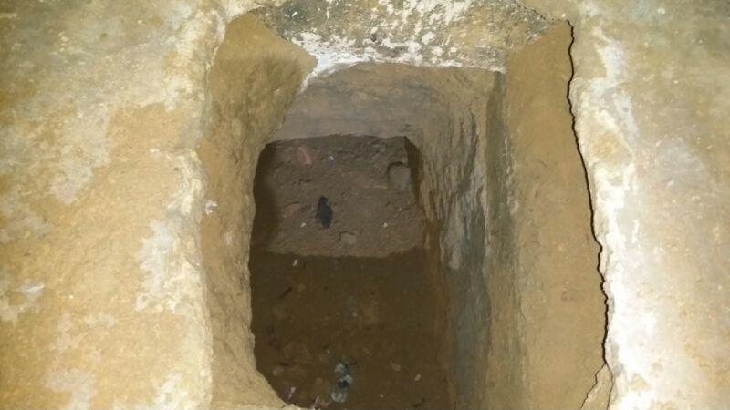 Túnel na cela B3 do Pavilhão 2: agentes evitaram fuga em massa