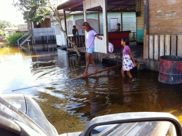 Serra do Navio. Por enquanto poucas famílias desabrigadas