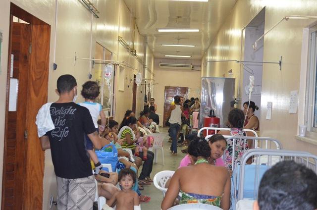No domingo, 15, havia 44 crianças em tratamento nos corredores do PAI