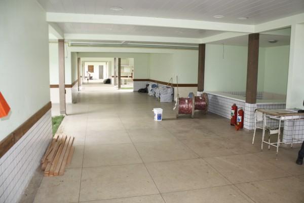 Imagem do hospital de Oiapoque em obras