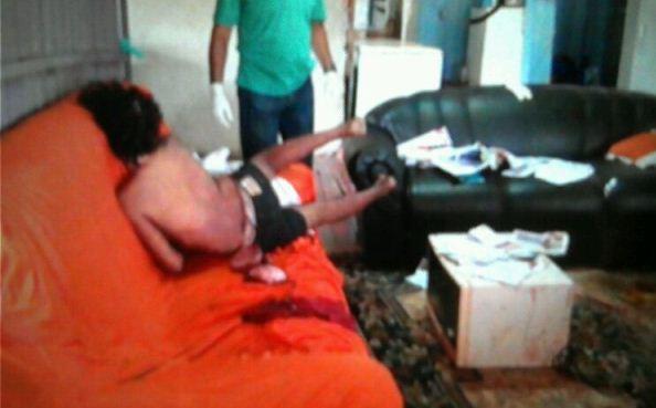 Testemunha disse que dormiu e enquanto acordou encontrou a vítima morta no sofá.