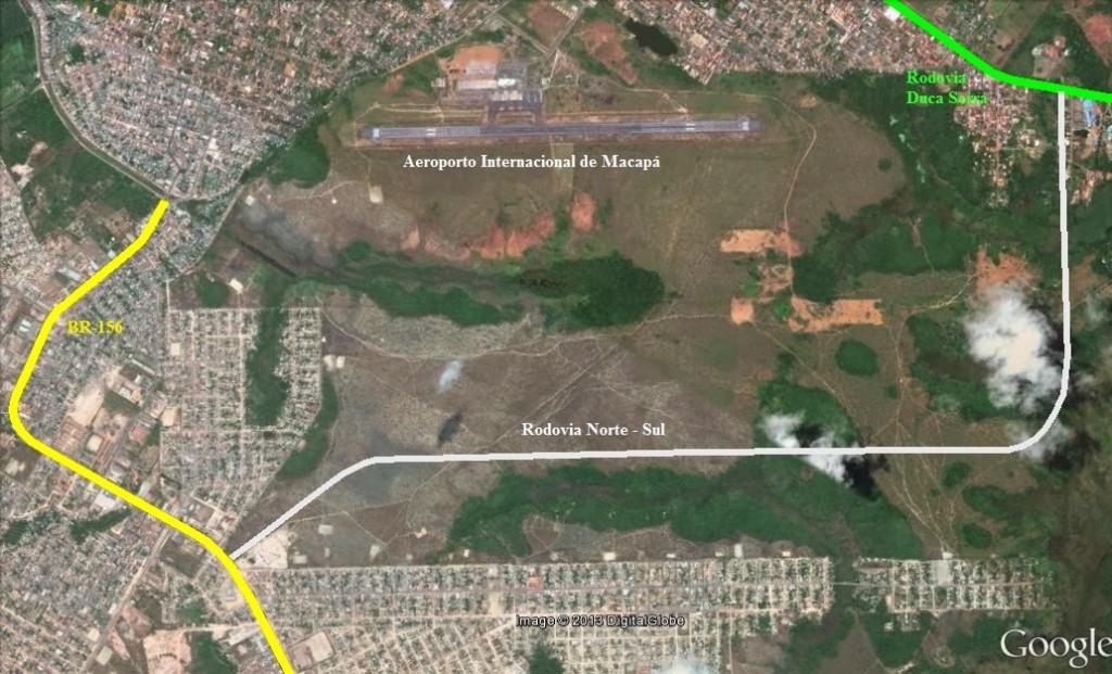 Área invadida fica na área de expansão do aeroporto de Macapá