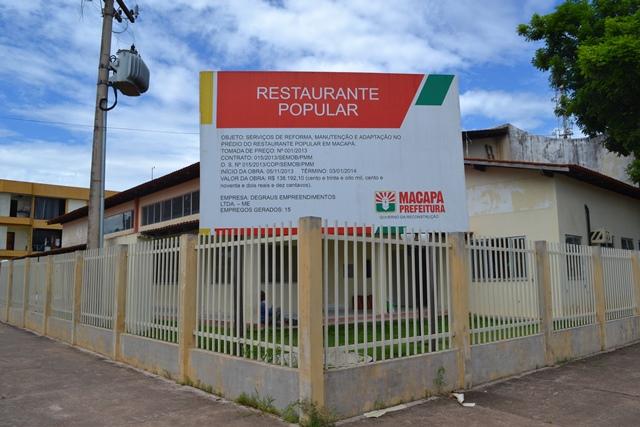 Restaurante Popular vai servir 600 refeições por dia