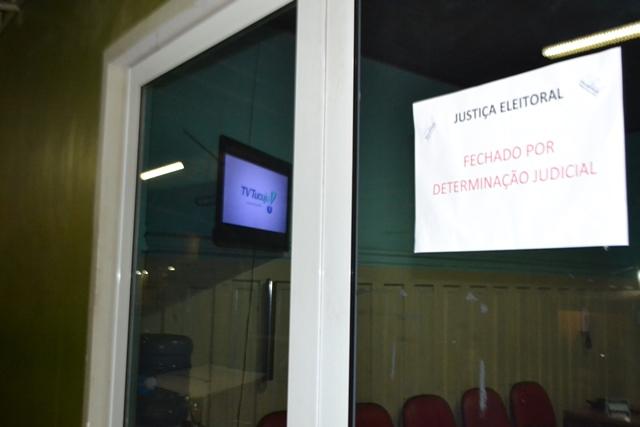 Salas lacradas pela Polícia Federal sob ordem da Justiça Eleitoral