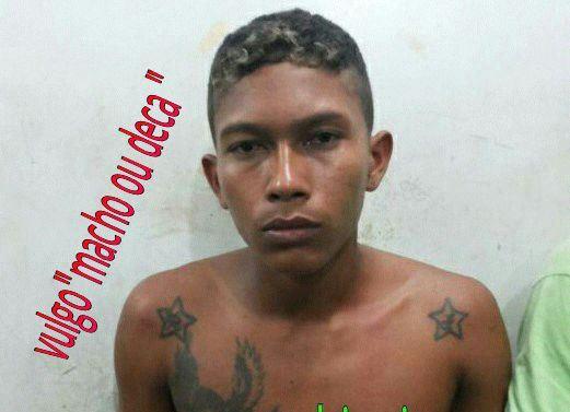 """Um dos suspeitos do assalto, conhecido como """"Macho"""""""
