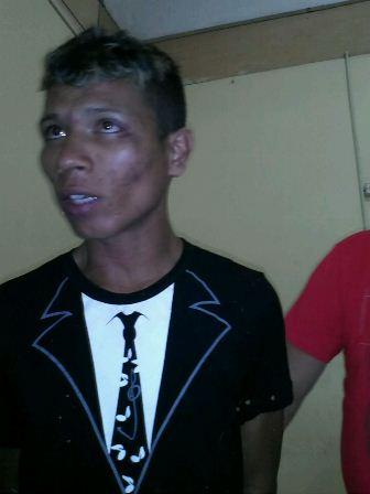 Louwenderson Costa foi preso com o dinheiro. Foto: Olho de Boto