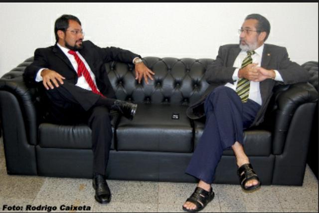 Então deputado Camilo em conversa descontraída com Gilvam Borges