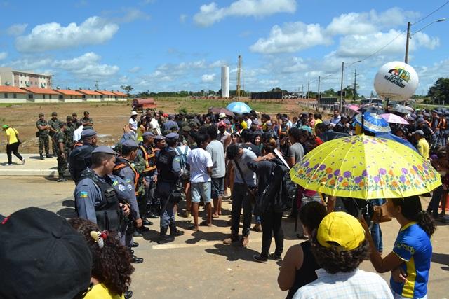 Momento no dia da inauguração do Macapaba, 23 de junho