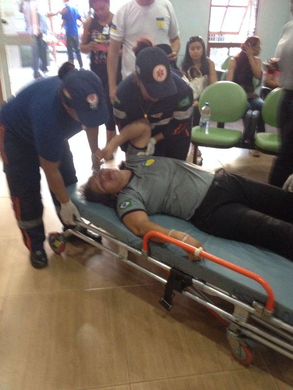 Presa, vigilante passou mal no Ciosp do Pacoval e precisou de atendimento médico