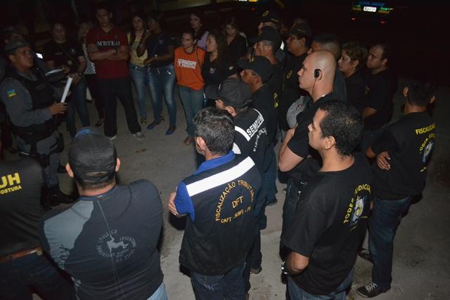 Equipe do Comissariado da Infância junto com a Polícia Militar em ação