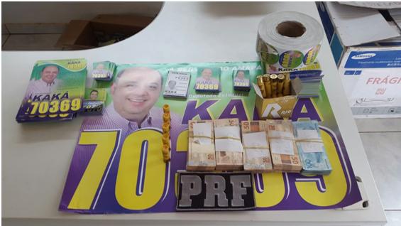 PRF apreende mala com dinheiro de deputado em Oiapoque