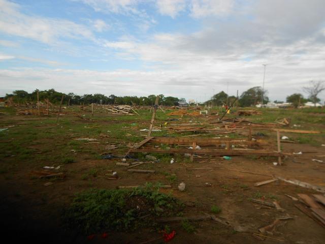 Área em Fazendinha depois da desocupação em fevereiro deste ano