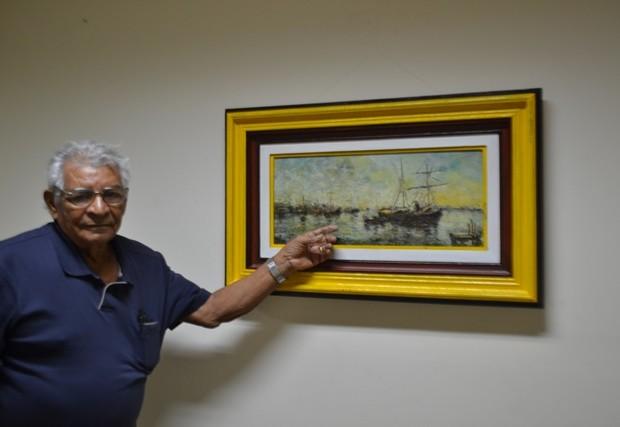 Jornalista expõe obras de arte adquiridas em 36 anos