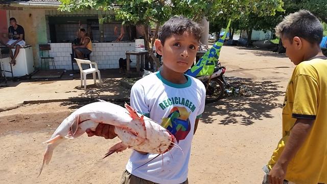 Garoto e a missão dada peixe pai de vender o peixe por R$ 12