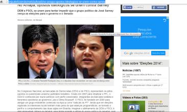 """""""Opostos ideológicos se unem contra Sarney no AP"""", diz Revista Veja"""
