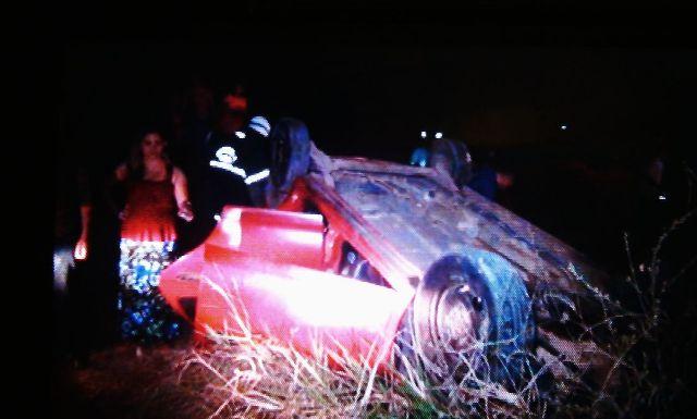 Capotamento na AP-70 deixa motorista em estado grave