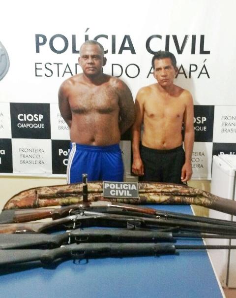 Mario e Silvânio traziam armas da Guiana para Macapá