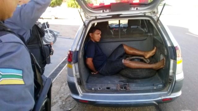 Jedielson da Costa tentou fugir mas foi preso