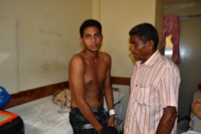 Marco Antonio, de 17 anos, voltou ao HE depois de cirurgia mal sucedida