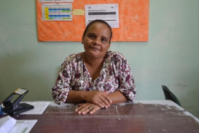 Telma de Oliveira, diretora da escola: fila desnecessária