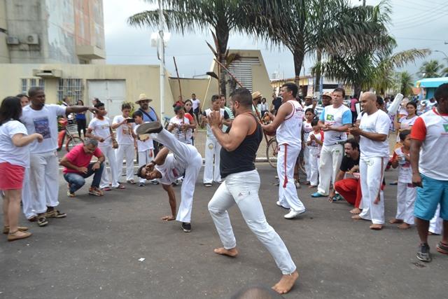 A Capoeira foi uma das atrações entre os rituais