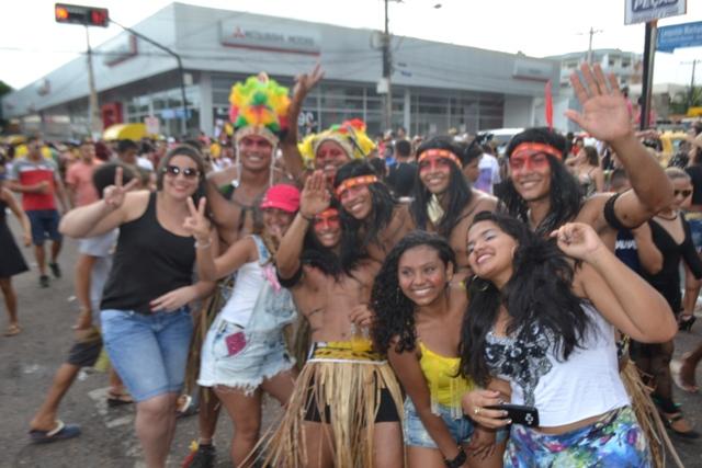 Foliões vieram de Porto Grande para participar do bloco