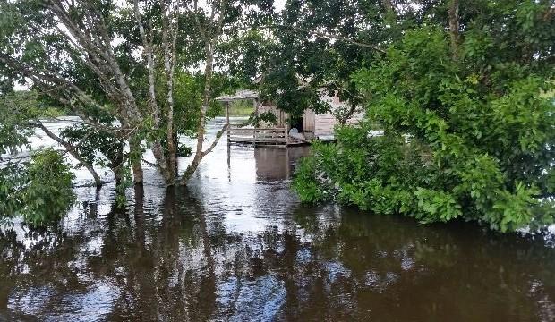 Cheias: Nível do Amapari sobe 4 metros e deixa famílias desabrigadas