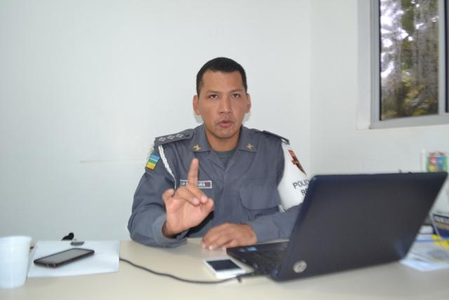 Capitão Rondinele Marques: maior efetivo será deslocado para a Expofeira