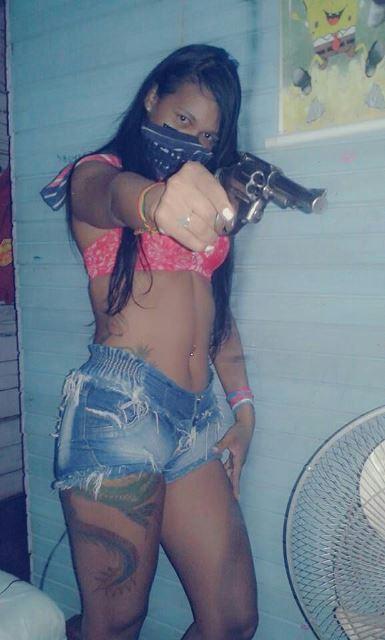 Musa do tráfico exibia armas nas redes sociais