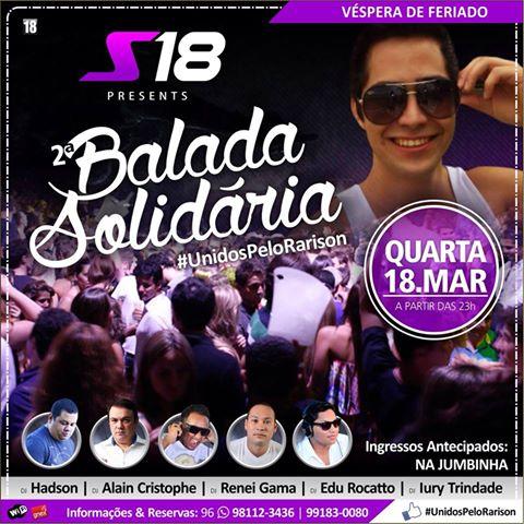 Balada solidária acontece no dia 18 deste mês em Santana