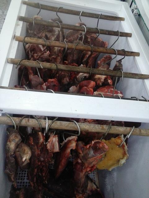 Neste açougue cerca de 100 quilos se estragaram