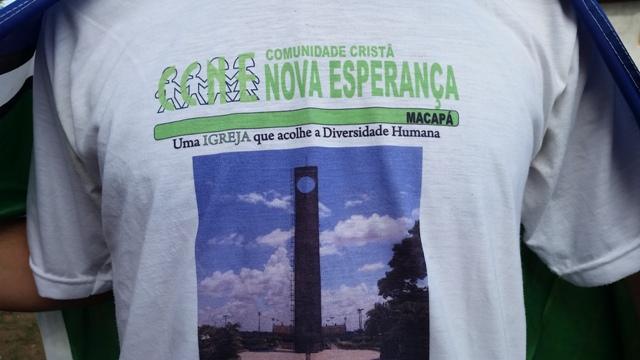 Detalhe da camisa de Danilo dada por um amigo