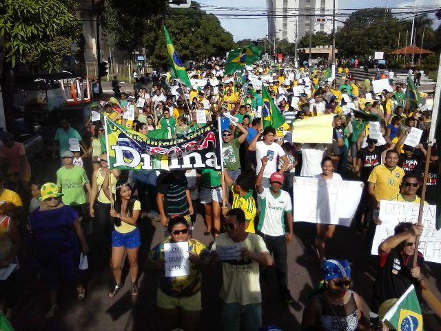 Pelas contas dos organizadores 3 mil pessoas participaram do ato
