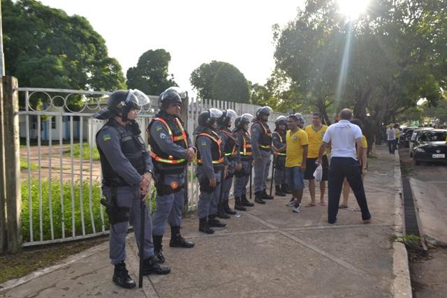 680 policiais militaram acompanharam o percurso