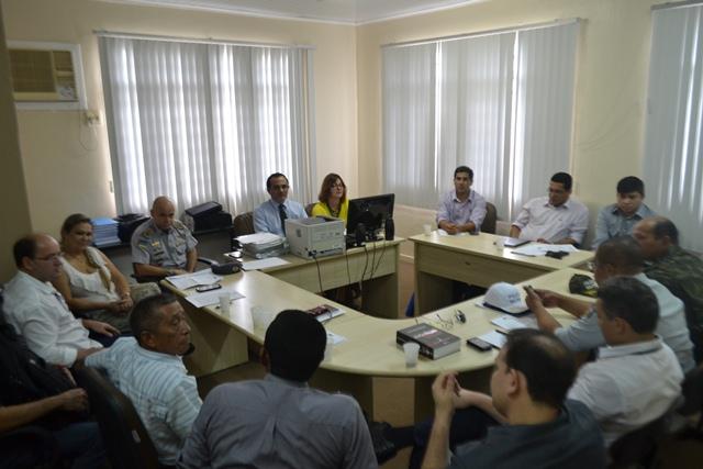 Reunião que definou competências e o início dos trabalhos