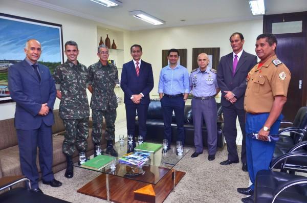 Exército pediu apoio do governo do Estado para a construção da base de comando de batalhões de 3 estados. Foto: Marcelo Loureiro/Agência Amapá