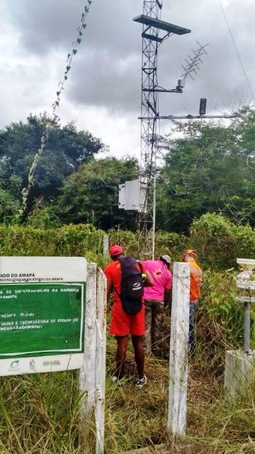 Estação meteorológica que monitora a precipitação de chuvas