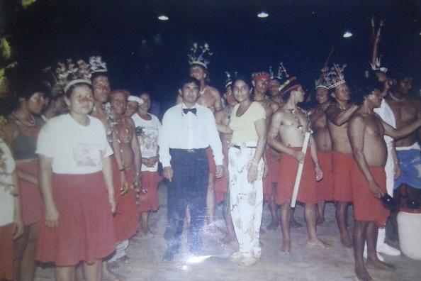 Seu com Janete Capiberibe em visita às aldeias Waiãpi
