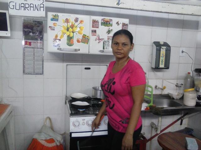 Marilucia Souza perdeu seus equipamentos de trabalho