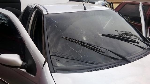 Carro usados pelos assaltantes