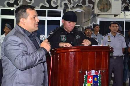 Deputado Pedro da Lua tem apoiado das ações da PM. Foto: Ascom