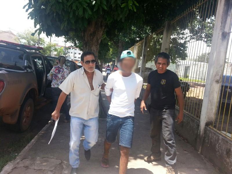 No dia 12 de março, ao chegar recambiado do Jari, Neguinho prometeu não ficar muito tempo preso. Foto: Jair Zemberg