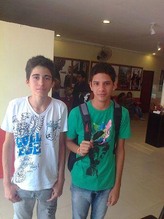 Os amigos Albert D'Ávila de Souza, e Luiz Felipe Oliveira vão ao cinema uma vez por semana